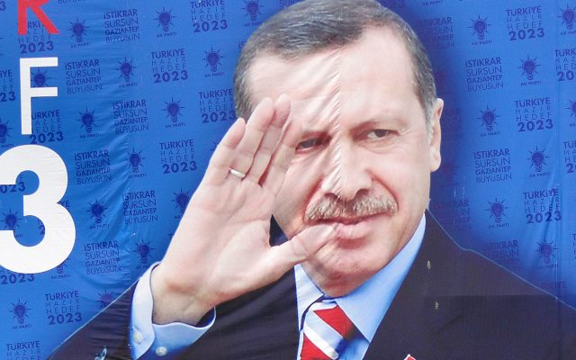 National Election Campaign Banner for PM Recep Tayyip Erdogan - Justice and Development Party - Gaziantep - Turkey - 02