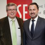 Xavier Bettel with Kevin Featherstone