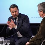 Xavier Bettel and Kevin Featherstone in conversation.