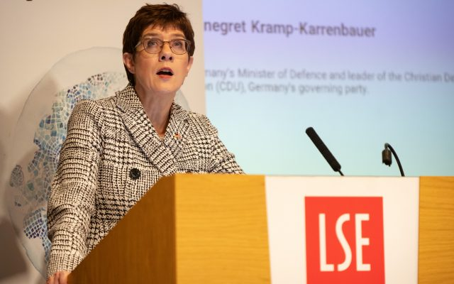 Annegret Kramp-Karrenbauer at LSE, 16 January 2020